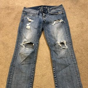 American Eagle Cropped Artist Jeans Size 2